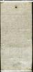 Digital copy of Statement about John Dee's crystal by Nicholas Culpepper, written on back of deed.
