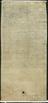 Digital copy of reverse of statement about John Dee's crystal by Nicholas Culpepper, showing deed.