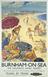 BR Poster - 'Burnham-on-Sea' - 1951.