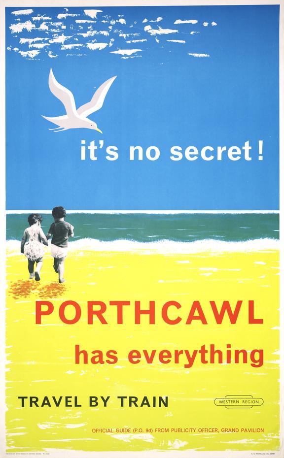 Poster, British Railways, Western region,, It's no secret Porthcawl has Everything!