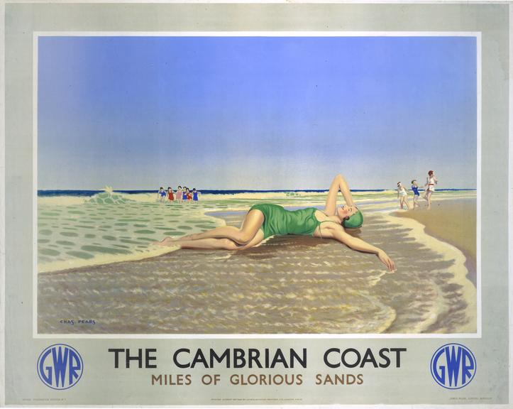 Poster, GWR, 'The Cambrian Coast, Miles of Glorious Sands' by Charles Pears