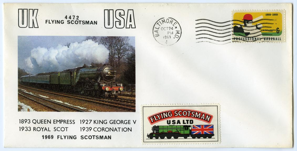 Flying Scotsman Commemorative Cover. USA. 1969.