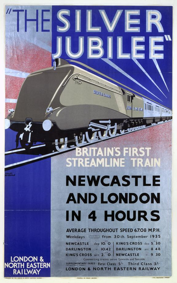 Poster, 'The Silver Jubilee', Britains First Streamline Train