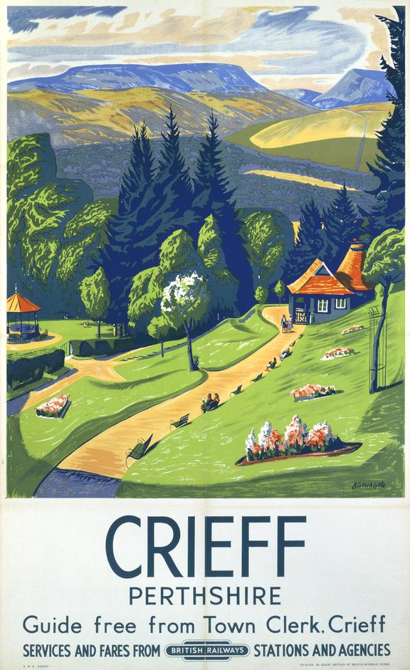Poster, BR, 'Crieff, Perthshire' by C H Birtwhistle