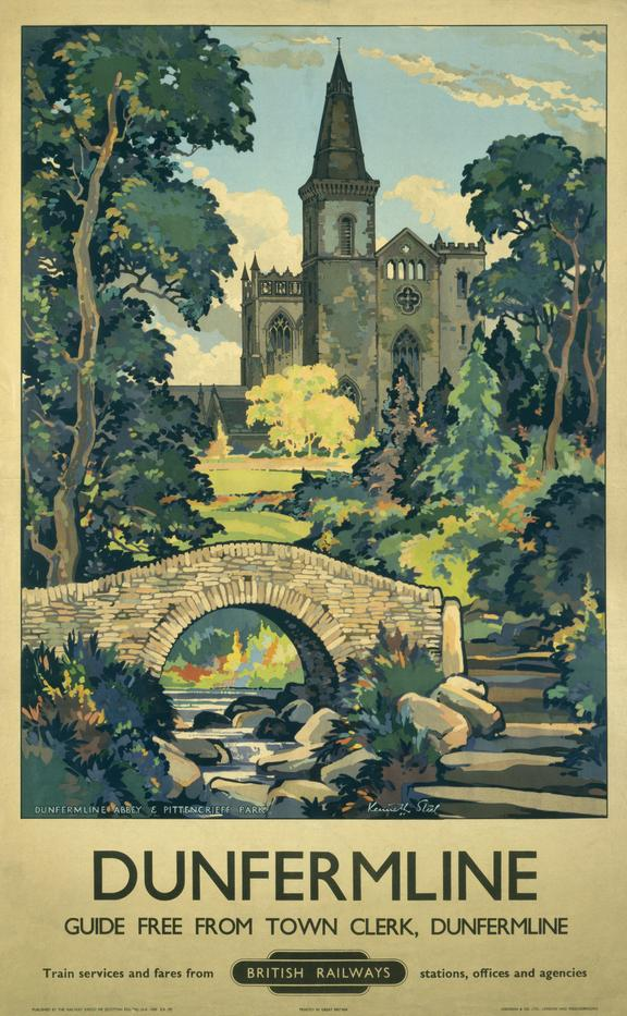 Poster, BR (Scottish Region), 'Dunfermline', by Kenneth Steel