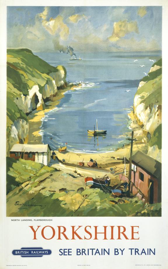 Poster, BR (ER), Yorkshire, North Landing, Flamborough, by Edward Wesson