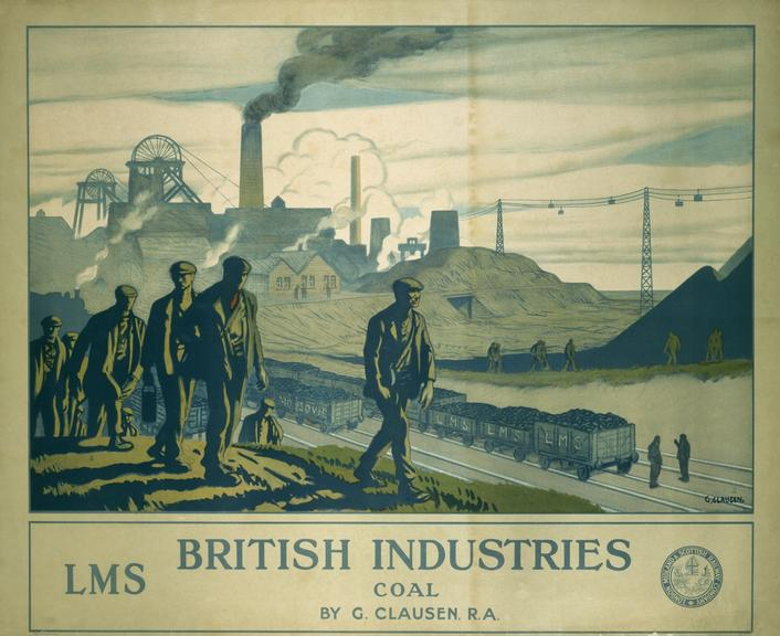 Poster, LMS, British Industries, Coal by George Clausen, R.A