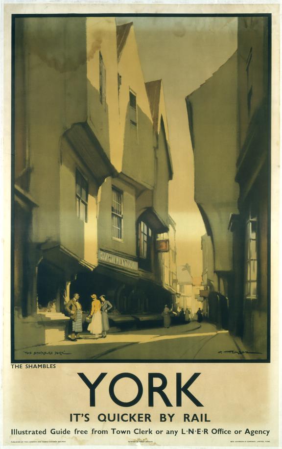 Poster, LNER, York, The Shambles by Harry Tittensor