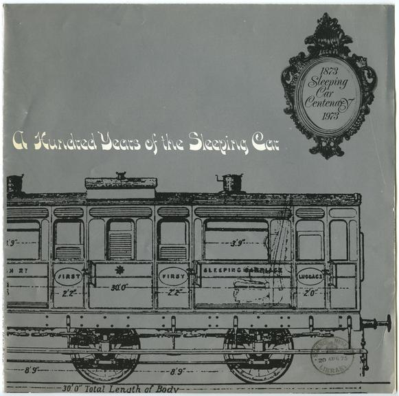 'A Hundred Years of the Sleeping Car' Cover