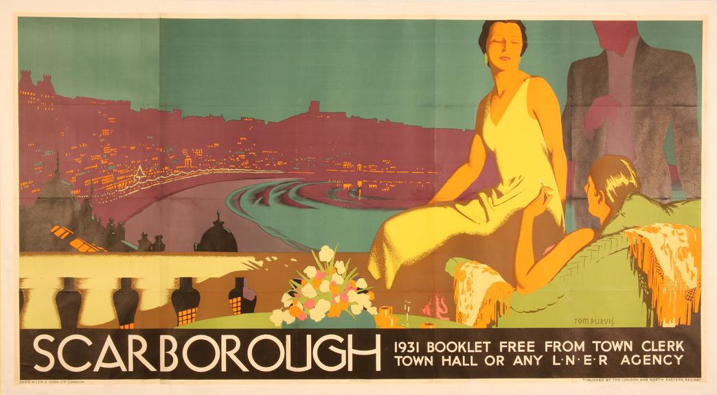 Poster, LNER, Scarborough by Tom Purvis