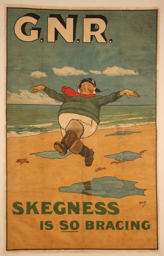 Poster, GNR. 'Skegness is So Bracing' by John Hassall