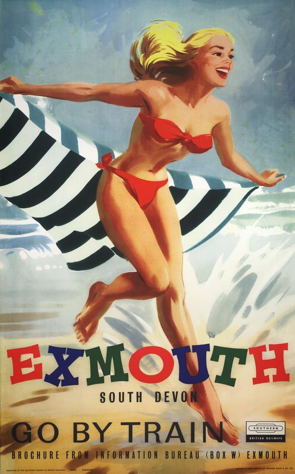 Poster, BR (SR), Exmouth, South Devon