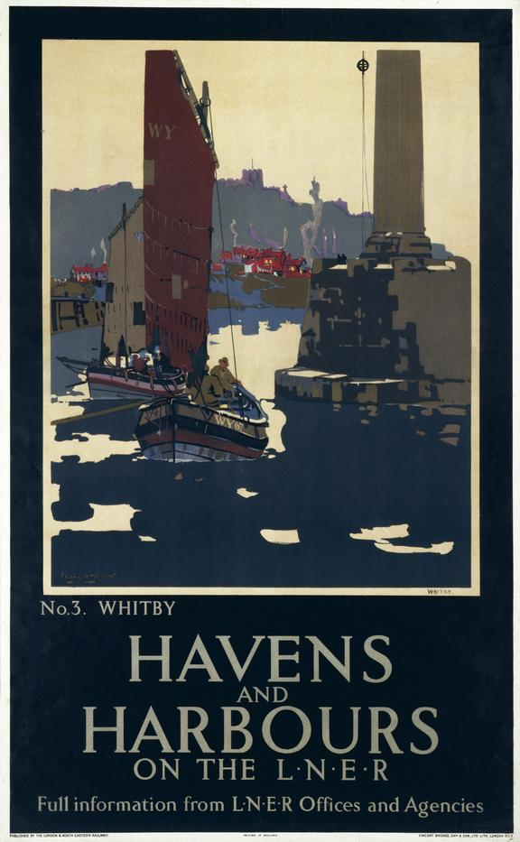 Poster, LNER, Havens and Harbours on the LNER, No 3, Whitby