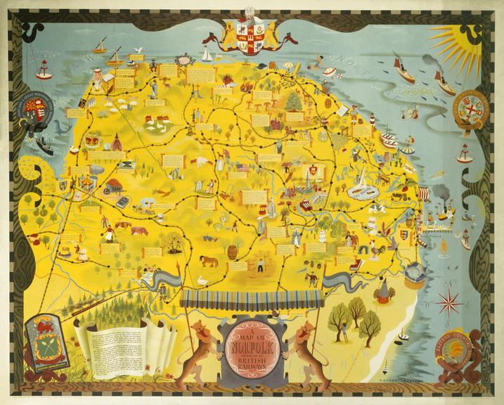 Poster, BR (ER), A Map of Norfolk.