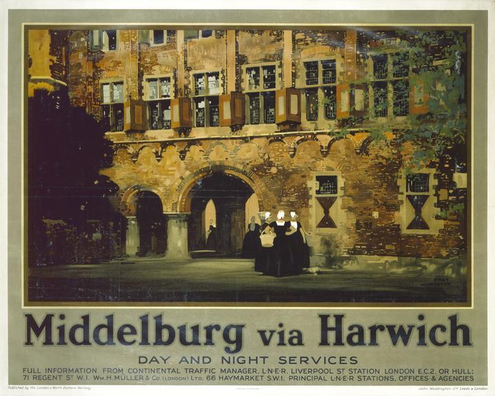 Poster, BR (British Transport Hotels). Middleburg via Harwich British Transport Hotels Summerbreak H