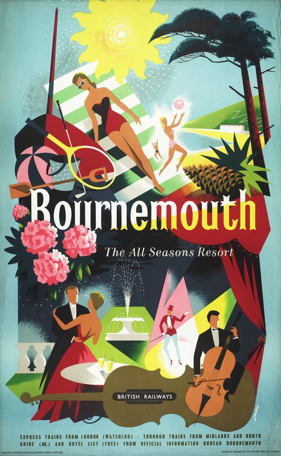 Poster: British Railways ( southern region) , Bournemouth