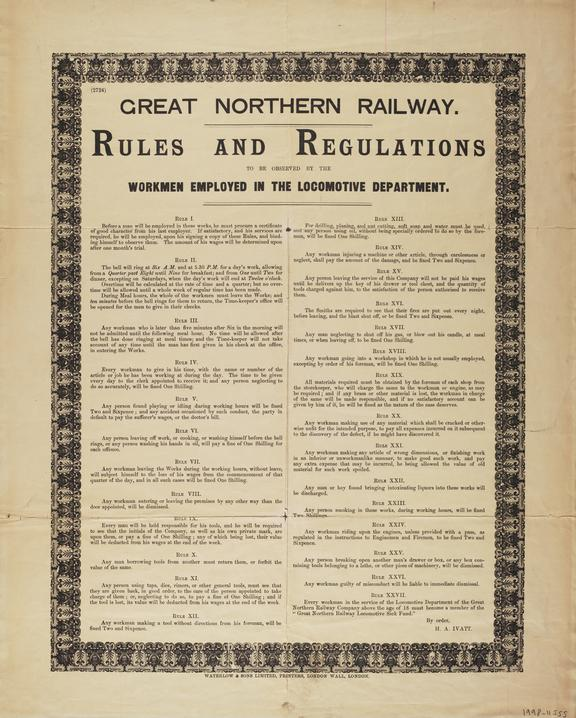 Poster, GNR, Rules and Regulations