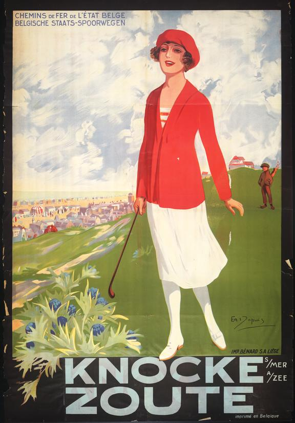 Poster for the Belgian resort of Knocke Zoute, about 1920