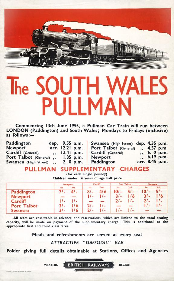 Poster, South Wales Pullman.