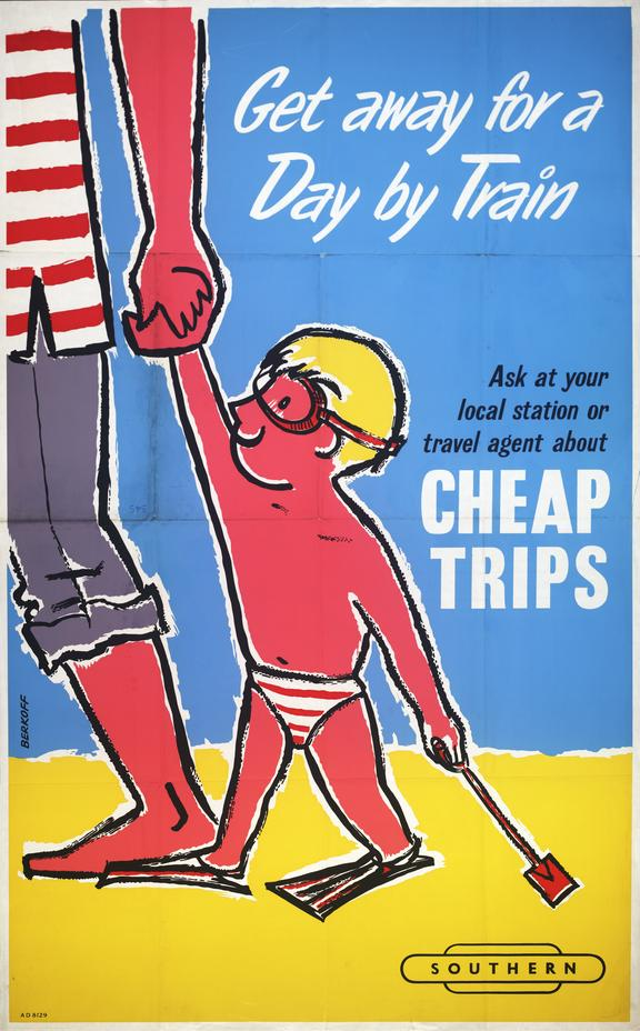 British Railways poster,get away for a day by train
