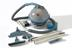 Hoover constellation vacuum cleaner & attachments circa 1956 on a white background 3/4 view.