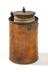 Primary electric cell, copper vessel photographed on a white background straight on.