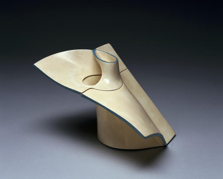 Model of a half-twist surface. Alexander Crum Brown (1838-1922), who was professor of mathematics at Edinburgh, was a
