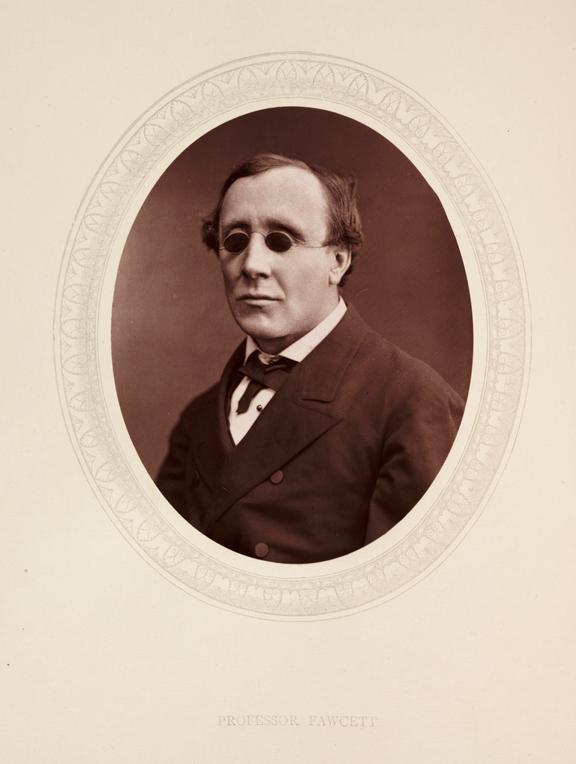'Professor Fawcett', 1876       A photographic portrait of Professor Henry Fawcett [1833-1884] taken by Samuel Robert Lock [1822-1881] and George Carpe