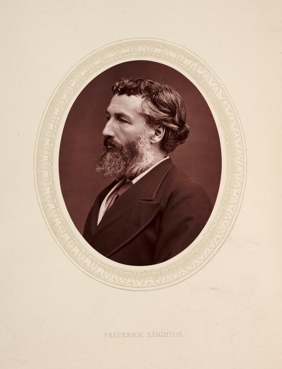 'Frederick [sic] Leighton', 1877       A photographic portrait of Lord Frederic Leighton [1830-1896] taken by Samuel Robert Lock [1822-1881] and George Carpe