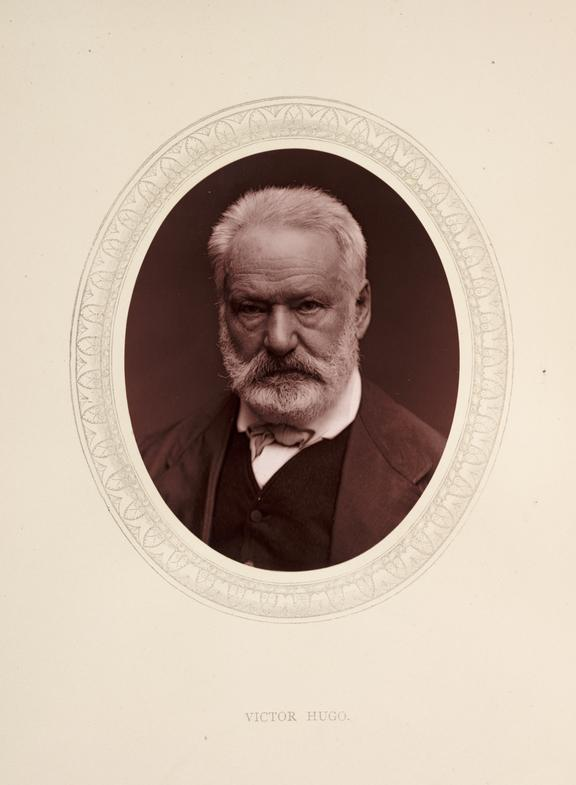 'Victor Hugo', 1877       A photographic portrait of Victor Hugo [1802-1885]  taken by Samuel Robert Lock [1822-1881] and George Carpe Whitfield