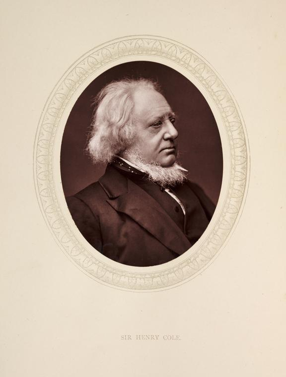 'Sir Henry Cole', 1877       A photographic portrait of Sir Henry Cole [1808-1882]  taken by Samuel Robert Lock [1822-1881] and George Carpe