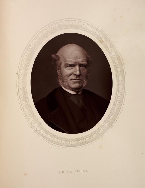 'Thomas Hughes', 1880       A photographic portrait of Thomas Hughes Q.C