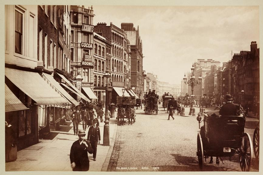'Holborn, London'       A photograph of Holborn, London, published by George Washington Wilson [1823-1893] in about 1890