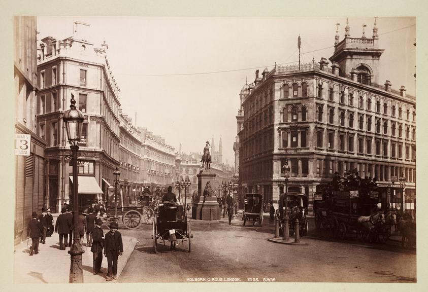 'Holborn Circus, London'       A photograph of Holborn Circus in London, published by George Washington Wilson [1823-1893] in about 1890