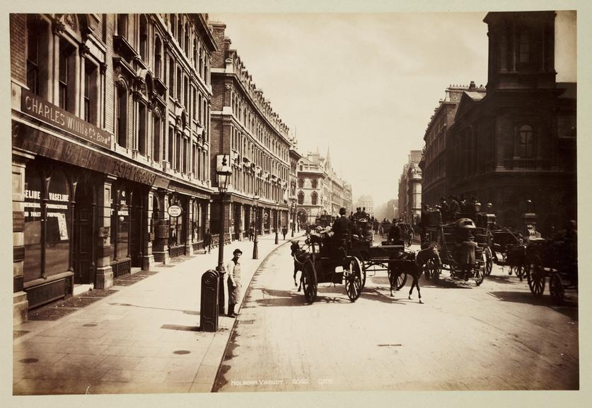'Holborn Viaduct'       A photograph of Holborn Viaduct, London, published by George Washington Wilson [1823-1893] in about 1890