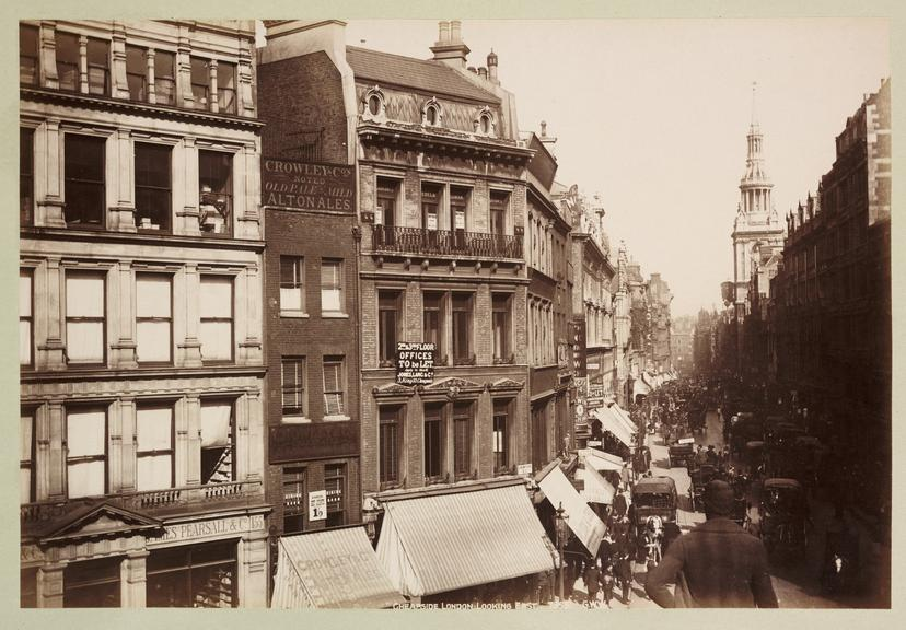 'Cheapside, London, Looking East'       A photograph of Cheapside, London, published by George Washington Wilson [1823-1893] in about 1890