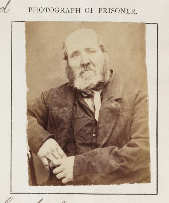 Portrait of a prisoner       An identity photograph of a convicted criminal, William Copeland, from an album of prison record photographs