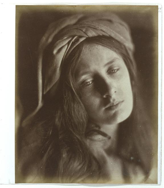 'Beatrice'       A photographic study of Mary Emily 'May' Prinsep (1853-1931), taken by Julia Margaret Cameron (1815-1879) in 1866