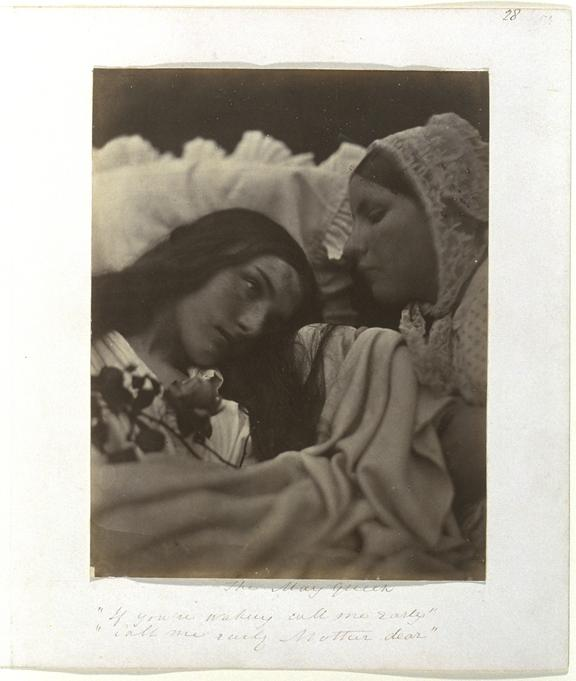 'The May Queen', 1864       A photographic study of Mary Ryan (1818-1914) and Caroline Hawkins, taken by Julia Margaret Cameron (1815-1879) in 1864