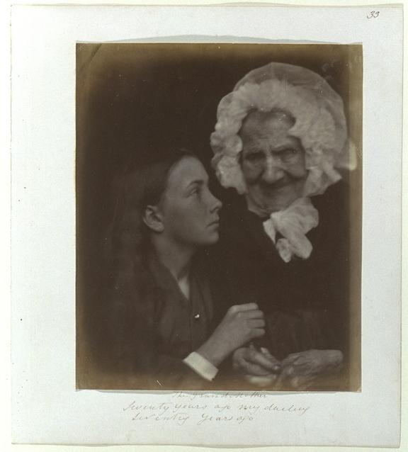 'The Grandmother...', 1865       A photographic portrait of an unknown girl and Sarah Groves (about 1772-1865)