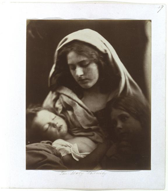 'The Holy Family', 1867       A photographic study of Percy Seymour Keown (born 1864), Cyllena Margaret Wilson (1851-1883)