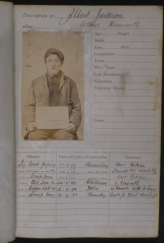 Album of Prison Record Photography       Albert Jackson