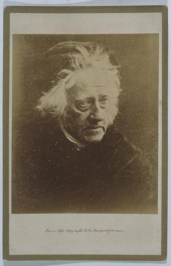 'Sir John Herschel', c. 1872       A cabinet card photographic portrait of Sir John Frederick William Herschel (1792-1871)