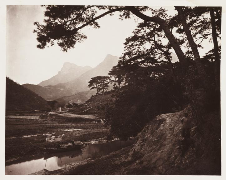 'The Lover's Leap'       A photograph of a stretch of the River Min, China, taken by John Thomson [1837-1921] in about 1871