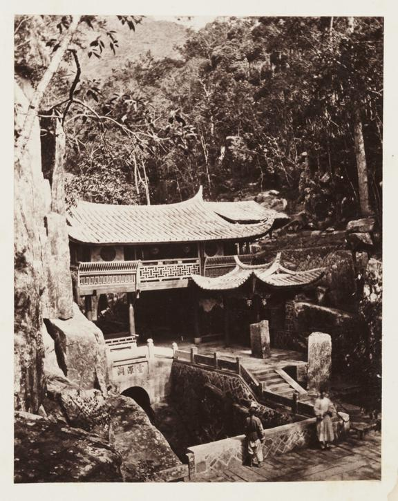 'A Small Temple at Ku-shan'       A photograph of Yongquan Temple, Fujian, China, taken by John Thomson [1837-1921] in about 1871