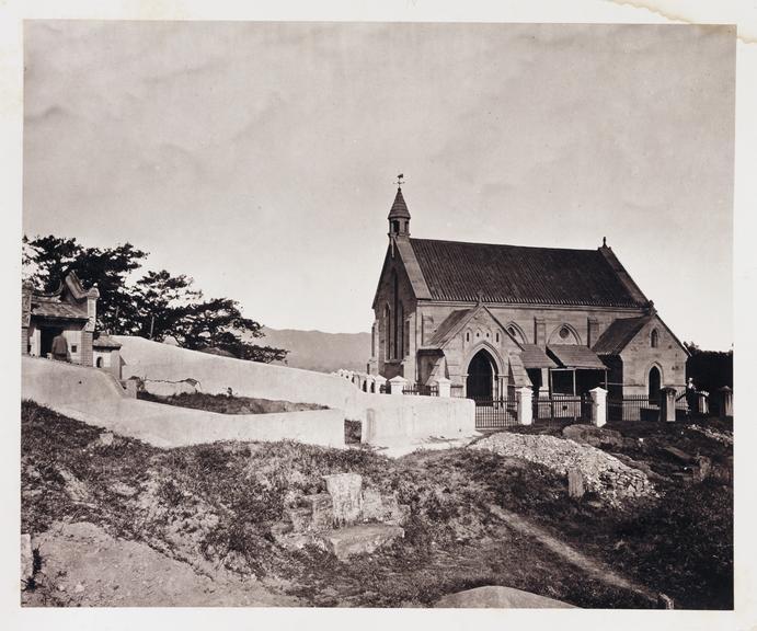 'Foochow Church'       A photograph of a European Church in Fuzhou, China, taken by John Thomson [1837-1921] in about 1871