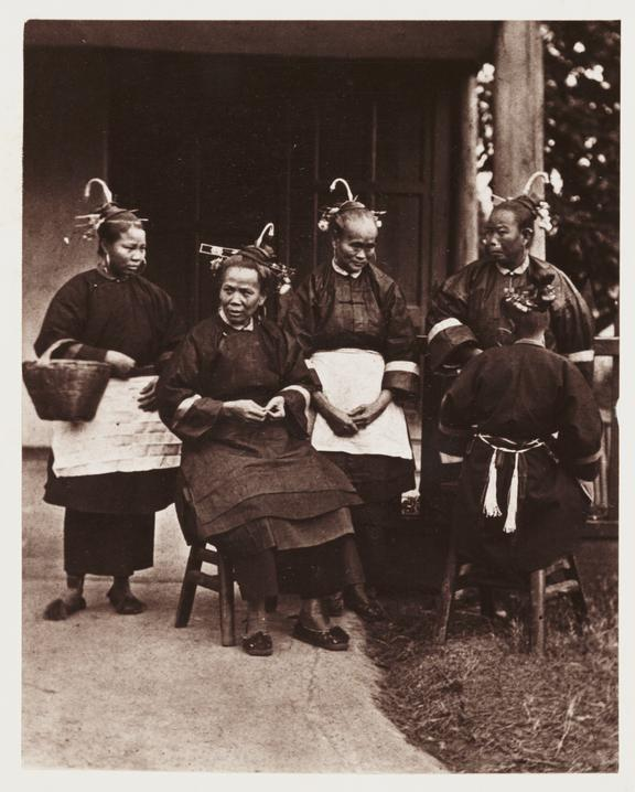 'Field Women'       A photograph of a group of Chinese women, taken by John Thomson [1837-1921] in about 1871