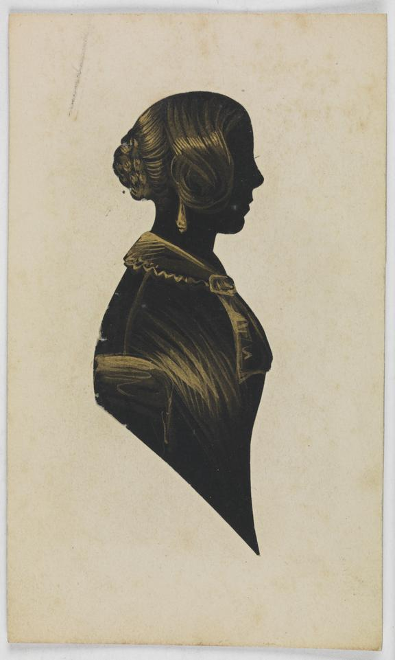 Silhouette of Catherine Dodds Grey       A silhouette portrait of Catherine Dodds Grey, created by an unknown artist in about 1840