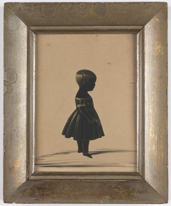 Silhouette of a little girl, about 1810       A full length silhouette of a little girl, created by an unknown artist, in about 1810