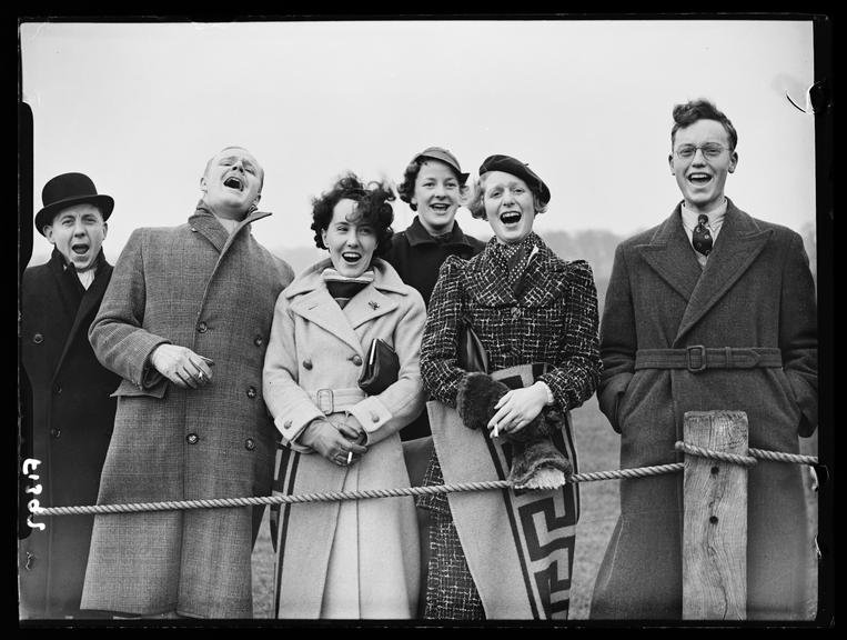 Rugby spectators       A photograph of a group of rugby supporters, taken by  Saidman for the Daily Herald newspaper on 4 March, 1937